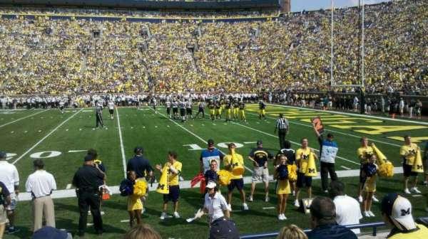 Michigan Stadium, section: 21, row: 3, seat: 22