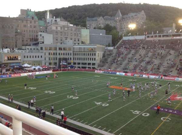 Percival Molson Memorial Stadium, section: T2, row: 1, seat: 5