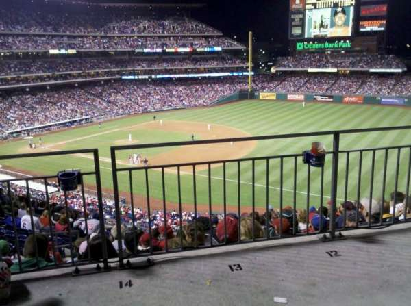 Citizens Bank Park, section: 210, row: 12, seat: 14