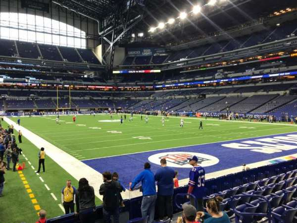 Lucas Oil Stadium, section: 103, row: 10, seat: 6