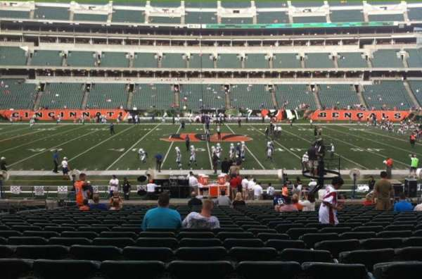 Paul Brown Stadium, section: 110, row: 21, seat: 19