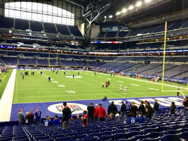 Lucas Oil Stadium, section: 102, row: 18, seat: 15