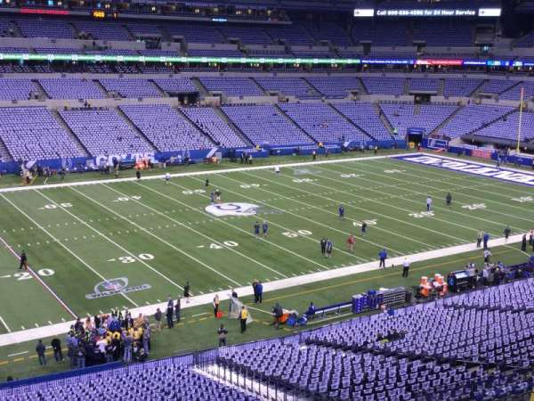 Lucas Oil Stadium, section: 343, row: 3, seat: 26