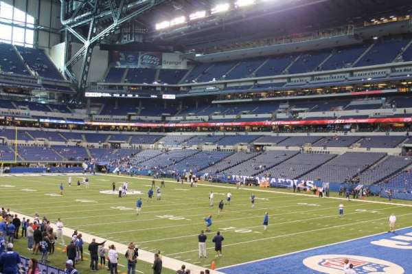 Lucas Oil Stadium, section: 105, row: 16, seat: 11