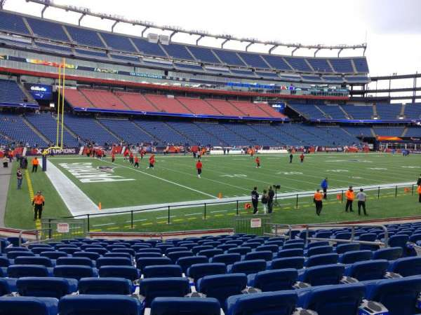 Gillette Stadium, section: 137, row: 13, seat: 8