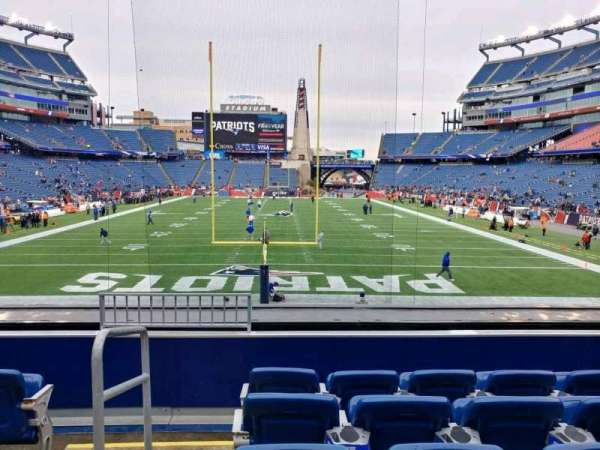 Gillette Stadium, section: 120, row: 22, seat: 24