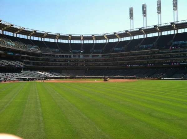 Progressive Field, section: 101, row: 2