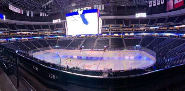 Pepsi Center, section: 228, row: 2, seat: 6