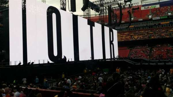 FedEx Field, section: 101, row: L, seat: 19