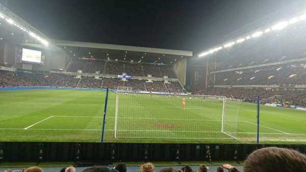 Ibrox Stadium, section: Broomloan Front, row: I, seat: 093