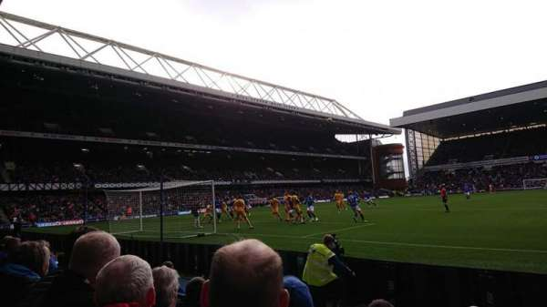 Ibrox Stadium, section: Copland Front, row: D, seat: 0045
