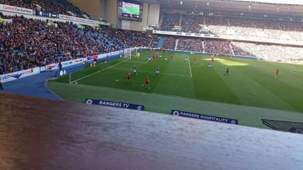 Ibrox Stadium, section: Bill Struth Main Front, row: A, seat: 0243