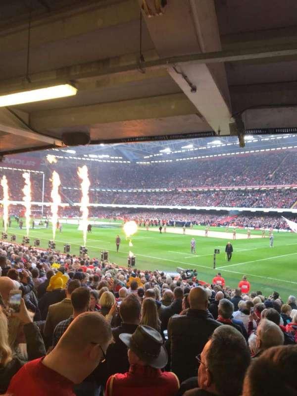 Principality Stadium, section: L25, row: 21, seat: 6