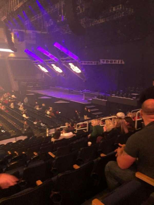 Infinite Energy Arena, section: 106, row: N, seat: 10
