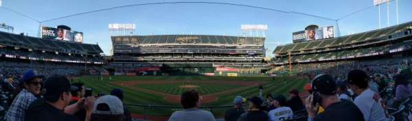 Oakland Alameda Coliseum, section: 117, row: 16, seat: 8