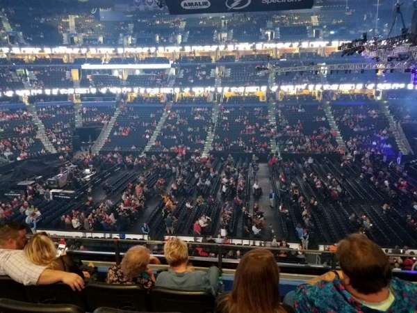 Amalie Arena, section: 201, row: D, seat: 7