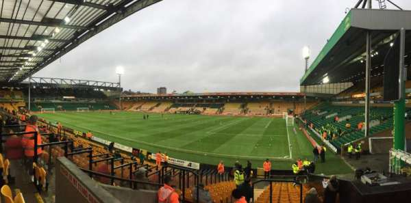 Carrow Road, section: F, row: T, seat: 12