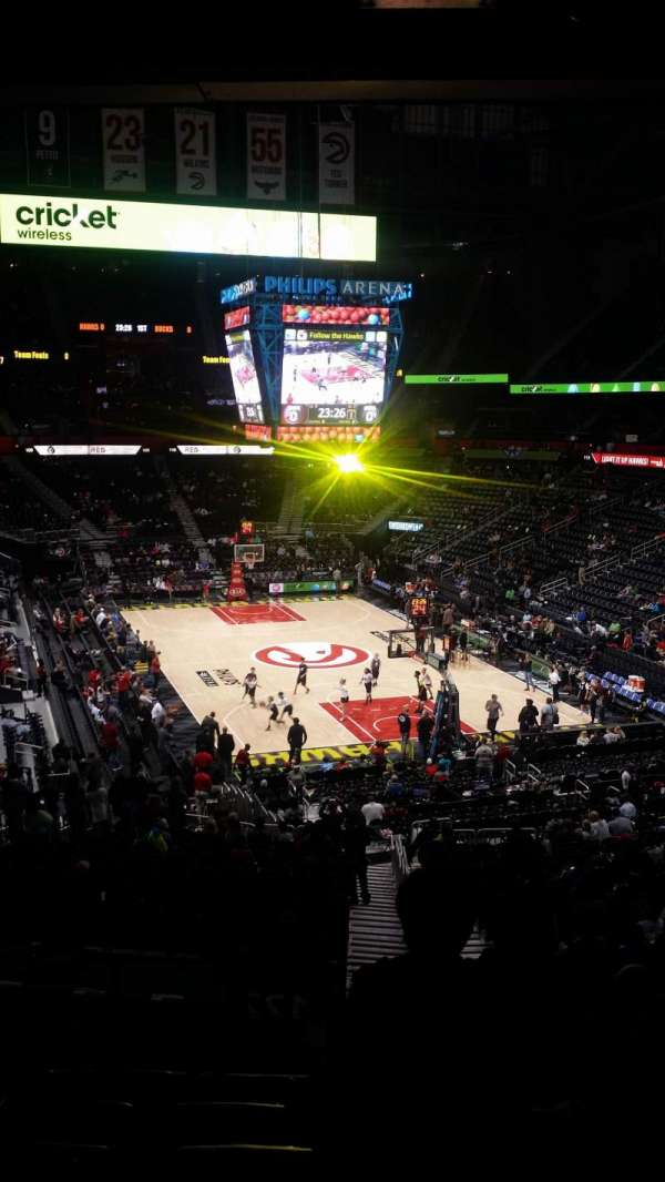 State Farm Arena, section: 221, row: G, seat: 3-4