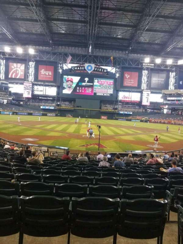Chase Field, section: 122, row: 21, seat: 11