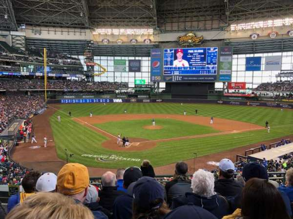 Miller Park, section: 217, row: 6, seat: 4