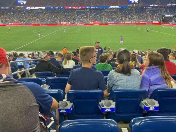 Gillette Stadium, section: 130, row: 15, seat: 19