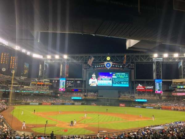 Chase Field, section: 121, row: 39, seat: 2