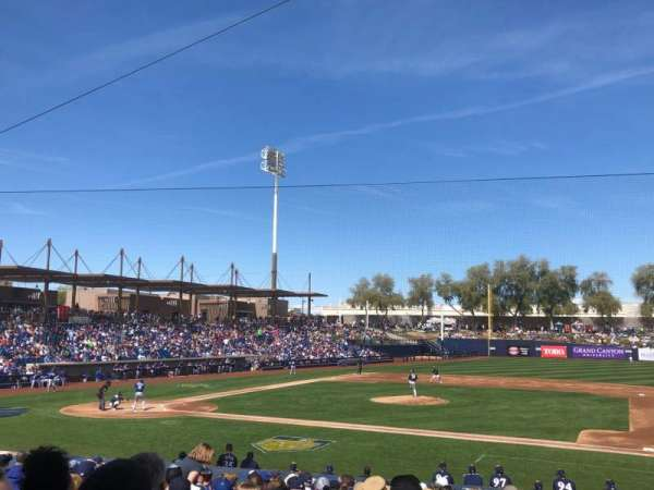 Maryvale Baseball Park, section: 109, row: V, seat: 6