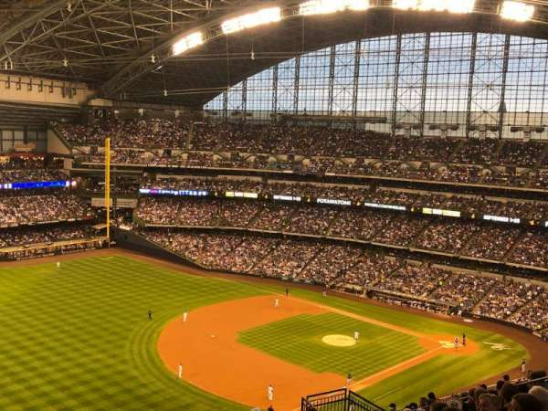 Miller Park, section: 435, row: 19, seat: 15