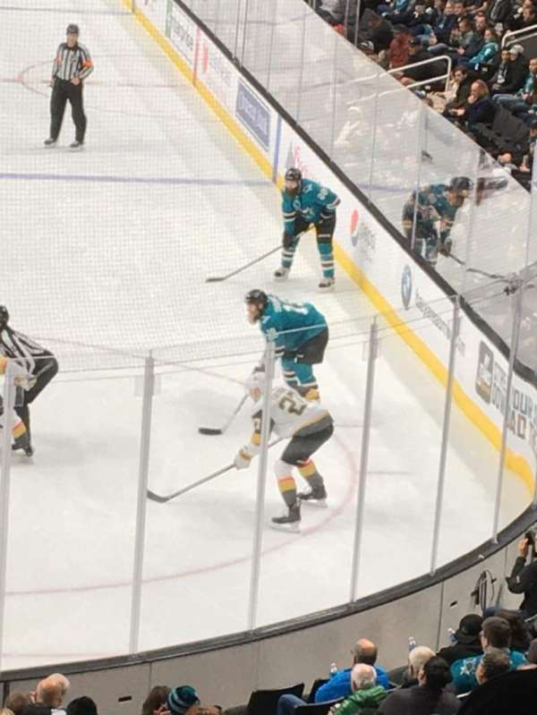 SAP Center, section: 121, row: 24, seat: 16