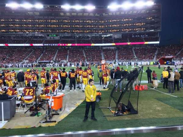 Levi's Stadium, section: C113, row: 1W, seat: 7
