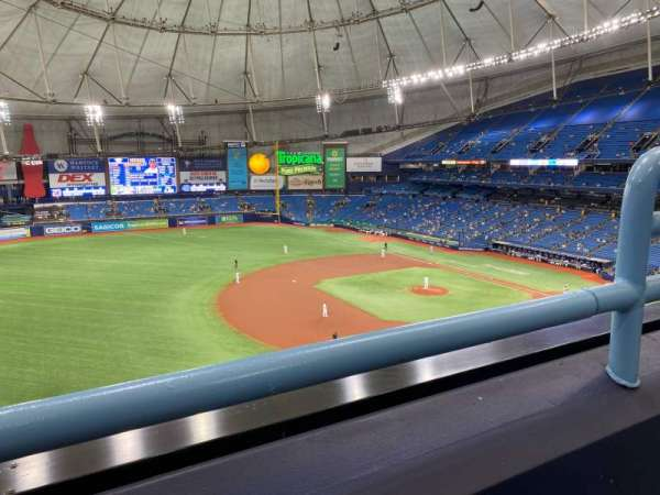 Tropicana Field, section: 317, row: A, seat: 22
