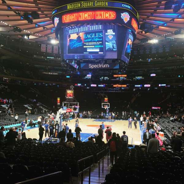 Madison Square Garden, section: 3, row: 19, seat: 4