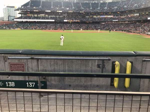 Oracle Park, section: PB137, row: 1, seat: 22