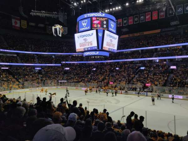 Bridgestone Arena, section: 107, row: F, seat: 11