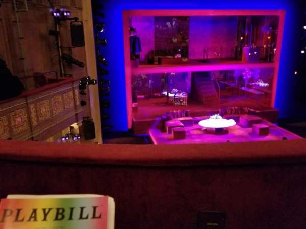 Booth Theatre, section: Left Mezzanine, row: B, seat: 3
