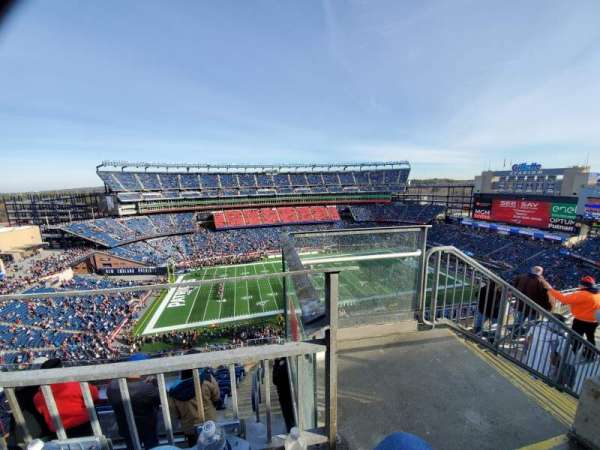 Gillette Stadium, section: 333, row: 8, seat: 1