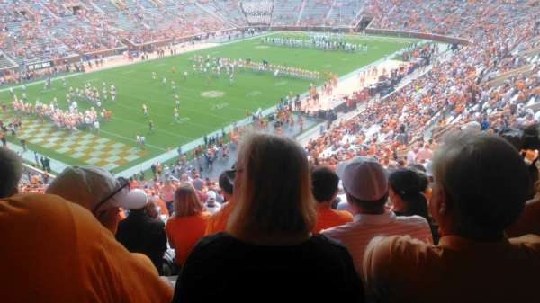 Neyland Stadium, section: X4, row: 50, seat: 30,29,28,27