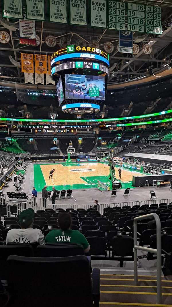 TD Garden, section: LOGE 7, row: 15, seat: 18
