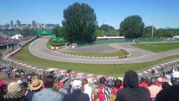 Circuit Gilles Villeneuve, section: Silver 12, row: O, seat: 14