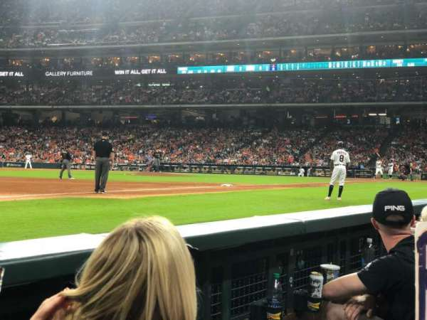 Minute Maid Park, section: 110, row: 2, seat: 7