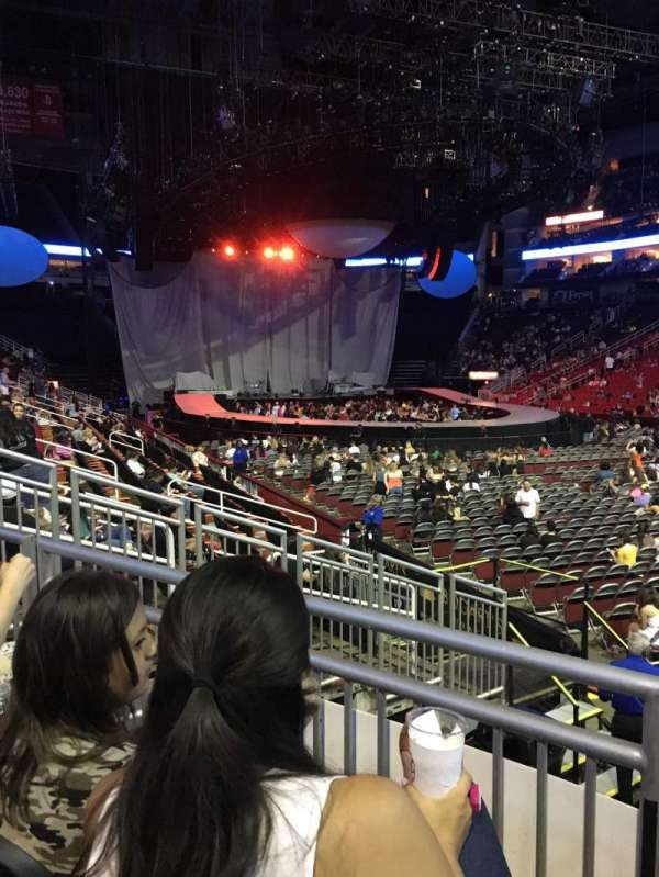 Toyota Center, section: 116, row: 10, seat: 9