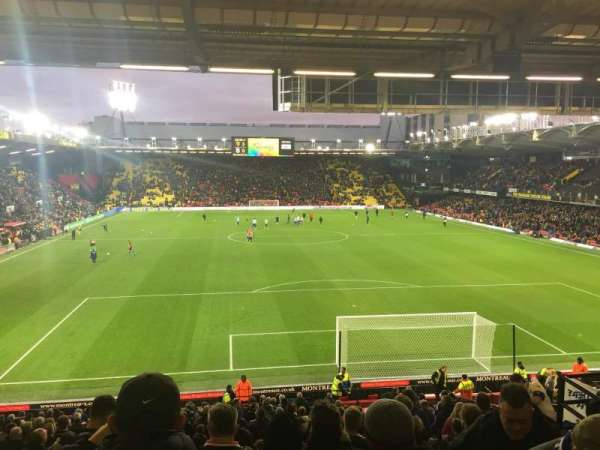 Vicarage Road, section: VRS2, row: Q, seat: 71