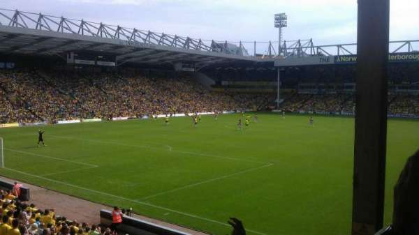 Carrow Road, section: Thorpe Corner (The Snakepit), row: N, seat: 271