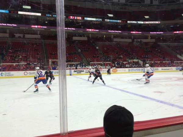 PNC Arena, section: 121, row: 2, seat: 2