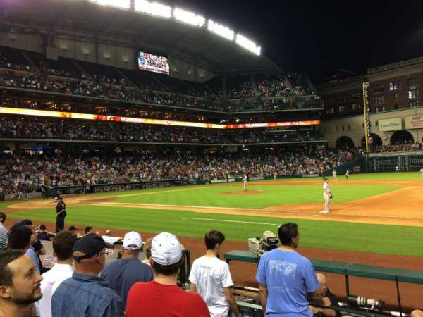 Minute Maid Park, section: 127, row: 9