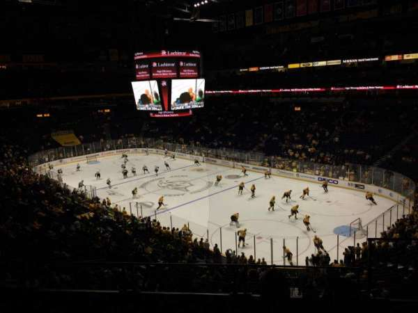 Bridgestone Arena, section: 220, row: G, seat: 1