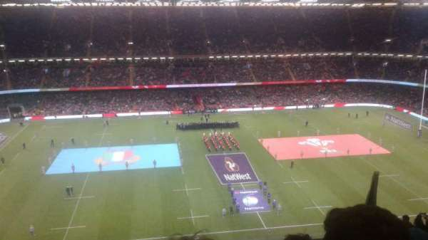 Principality Stadium, section: U31, row: 27, seat: 13