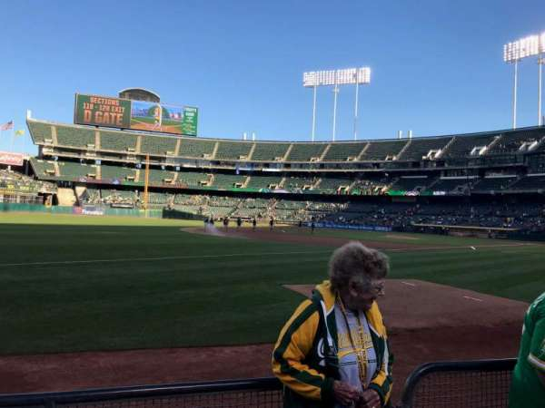 Oakland Alameda Coliseum, section: 127, row: 3, seat: 11