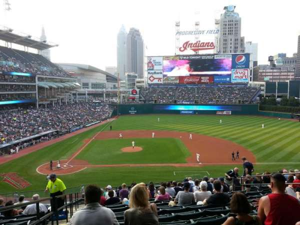 Progressive Field, section: 346, row: N