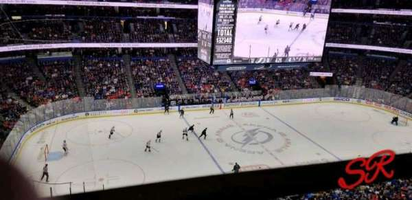 Amalie Arena, section: 318, row: A, seat: 11
